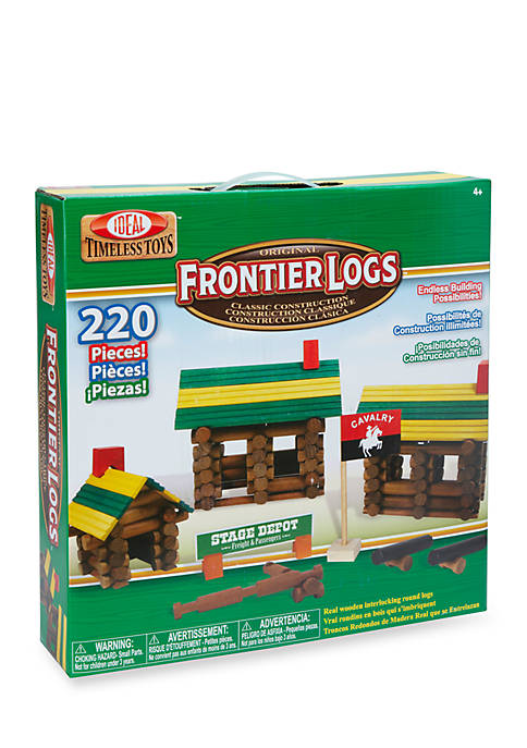 Ideal Frontier Logs 220 Piece Classic Wood Construction
