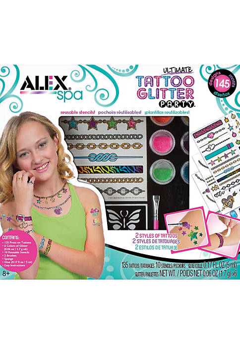 Alex Toys Spa Ultimate Glitter Tattoo Party Craft