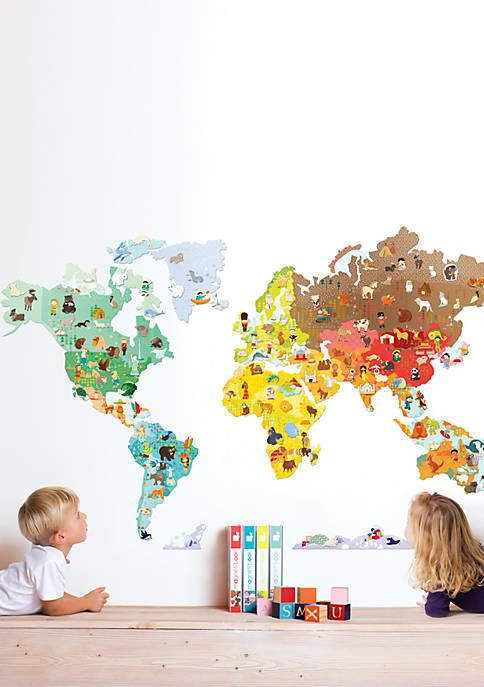 Janod MagnetiStick Wall Decor World Map
