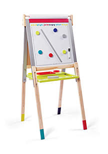 Height Adjustable Black and White Board Easel