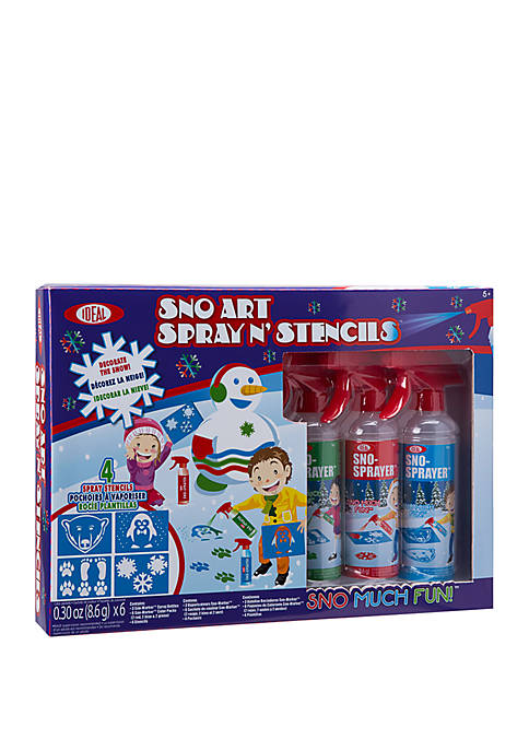 Ideal Sno Toys Art Spray N Stencil