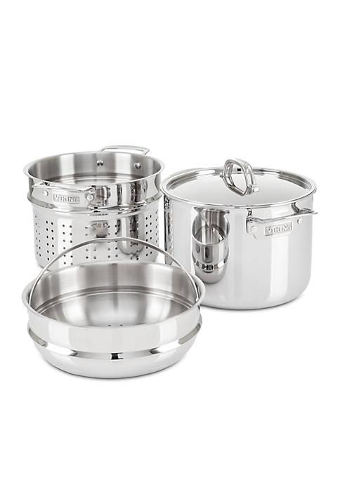 3-Ply Multi-Cooker/Pasta Pot With Bonus Steamer