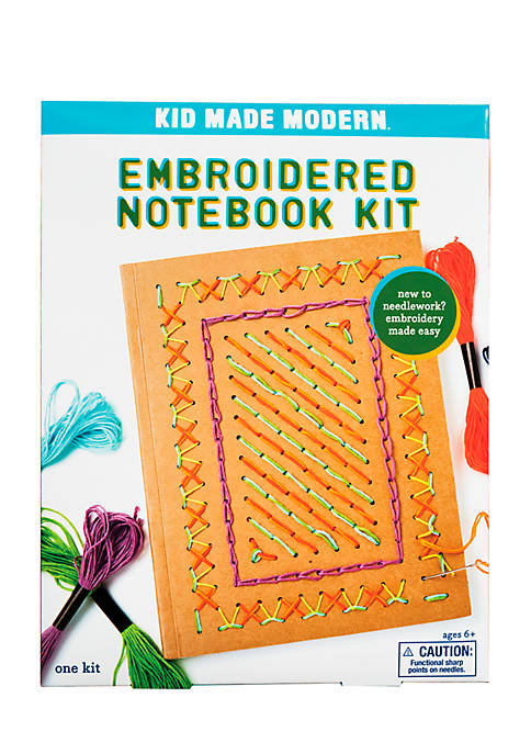 Kid Made Modern Embroidered Notebook Craft Kit