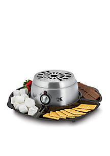 Stainless Steel 2 in 1 Smores Maker with Chocolate Fondue
