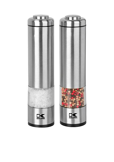 Electric Salt and Pepper Grinder Set