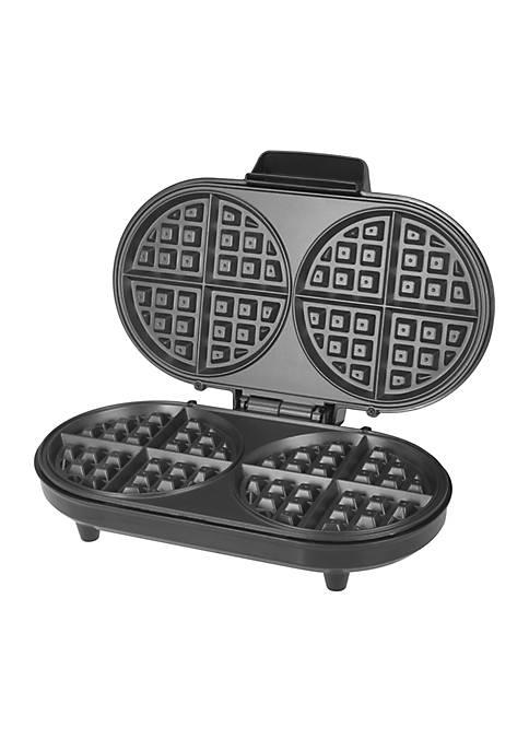 Stainless Steel Double Belgian Waffle Maker