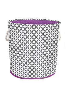 Small Round Hamper Tote with Rope Handles