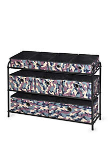 Deluxe Storage Rack with Fabric Bins