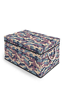 Storage Chest with Removable Lid - Camo and Black Trim