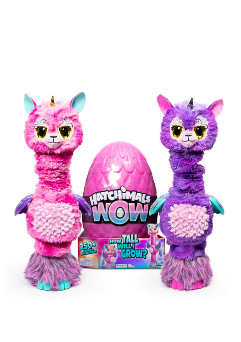 HATCHIMALS WOW Llalacorn 32-Inch Tall Interactive Hatchimal Toy