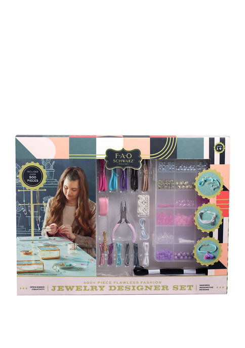 FAO Schwarz Girls DIY Jewelry Designer Set