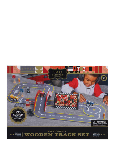 Wood Race Circuit Play Track Toy