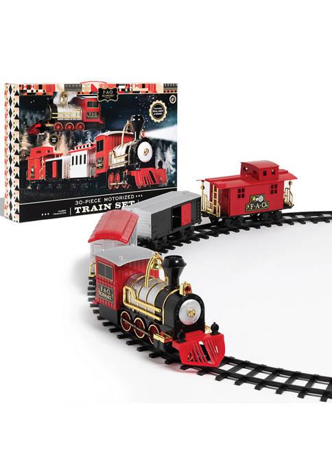 FAO Schwarz 30 Piece Motorized Train Set with