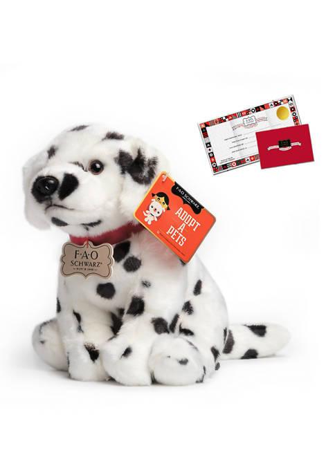 FAO Schwarz 10 Inch Plush Realistic Dalmatian Puppy
