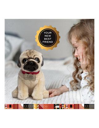 Realistic Pug Stuffed Animal, Fao Schwarz 10 Inch Plush Realistic Pug Puppy Stuffed Animal Belk