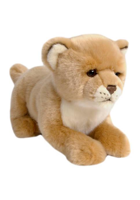 FAO Schwarz Toy Plush Cub Lion 10 Inch