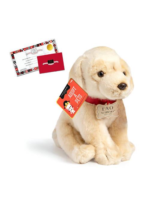 FAO Schwarz Toy Plush Puppy Floppy Labrador 10