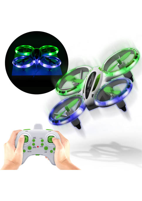 Sharper Image Drone Stunt Glow LED 5 Inch