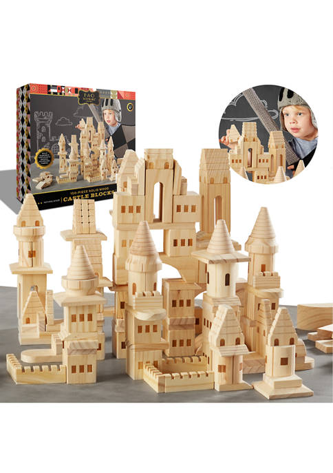 FAO Schwarz 150 Piece Wooden Castle Building Blocks