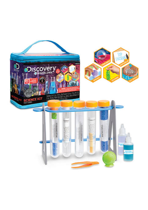 Discovery Mindblown Test Tubes Science 19-Piece Kit with