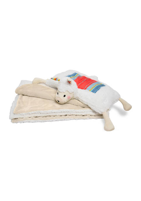 FAO Schwarz Llama 2-in-1 Pillow and Blanket Set,