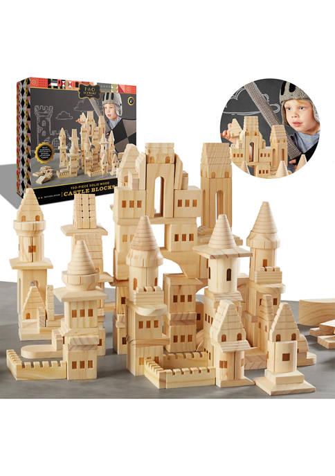 FAO Schwarz Toy Wood Castle Blocks 150 Pieces