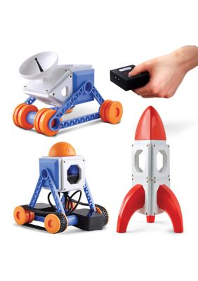 Discovery Mindblown Customizable Magnetic Building Tiles With Remote Control, 34-Piece Play Set