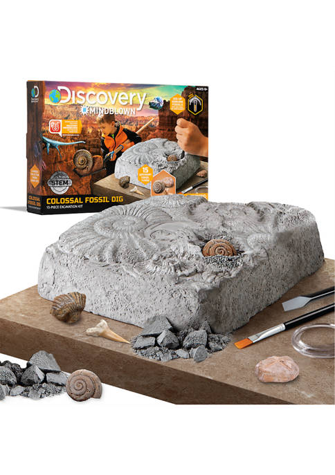Discovery Mindblown Colossal Fossil Dig Set STEM 15-Piece