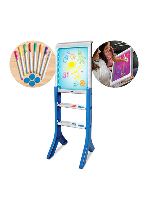 Discovery Kids LED Artist Easel with Removable Glow-in-The-Dark