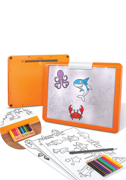 Discovery Kids LED Illuminated Tracing Tablet, 34 Piece