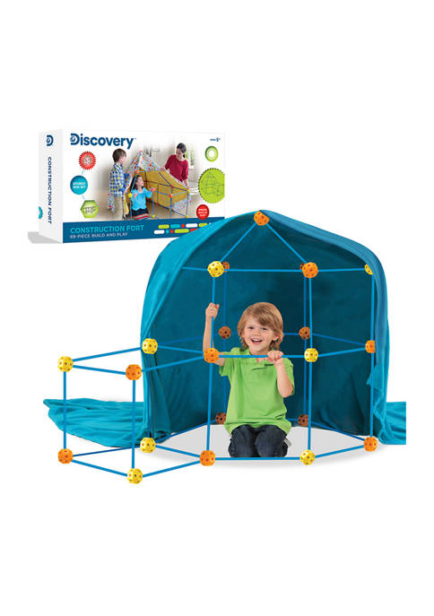 69 Piece Flexible Construction Fort with 44 Rods & 25 Connector Blocks