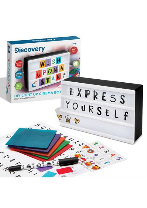 Discovery Kids DIY Light Up Cinema Box Customizable