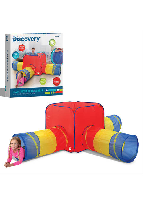 Discovery Kids 3 in 1 Tent Tunnels Toy