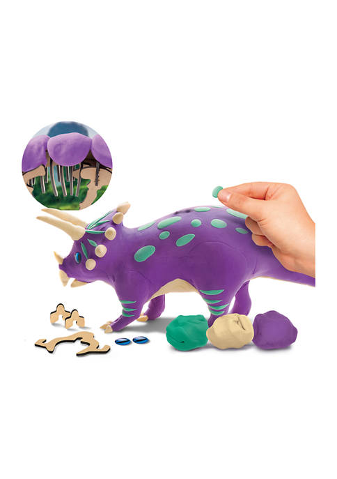 Discovery Mindblown Dinosaur DIY Clay Puzzle Triceratops