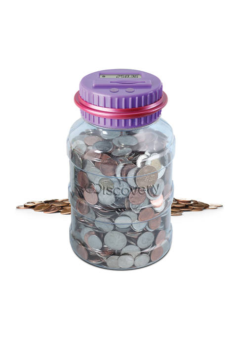 Discovery Kids Digital Coin-Counting Money Jar with LCD