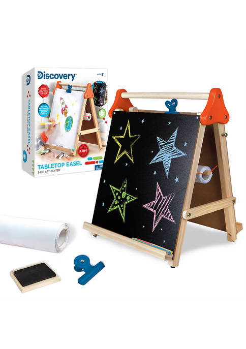 Discovery Kids 3-in-1 Tabletop Dry Erase Chalkboard Painting
