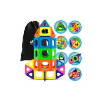 Deals on Discovery Kids 50-Piece Magnetic Building Tiles Construction Set