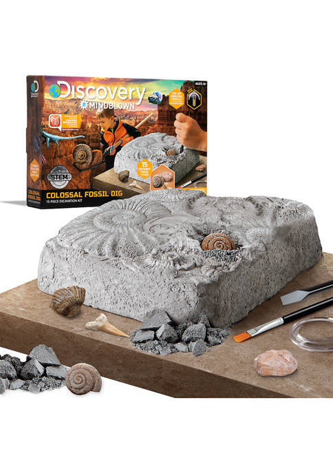 Discovery Mindblown Toy Colossal Fossil Dig Excavation Kit