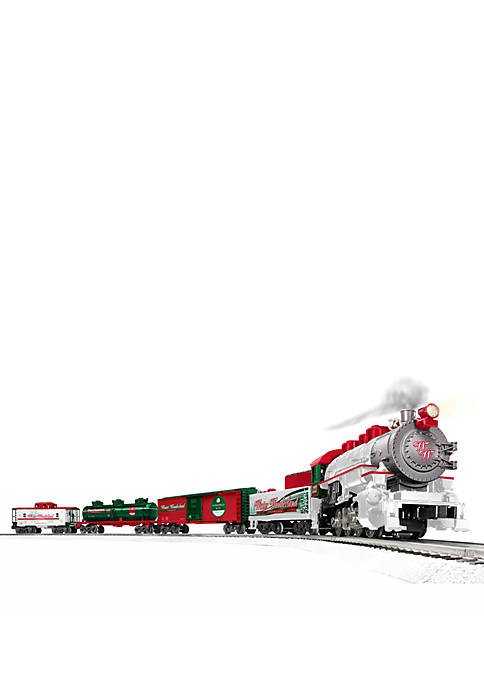 Winter Wonderland Electric O Gauge Model Train Set with Remote and Bluetooth Capability