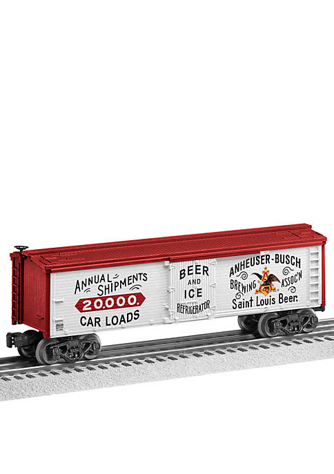 Anheuser-Busch 1980s O Gauge Model Train Reefer Car