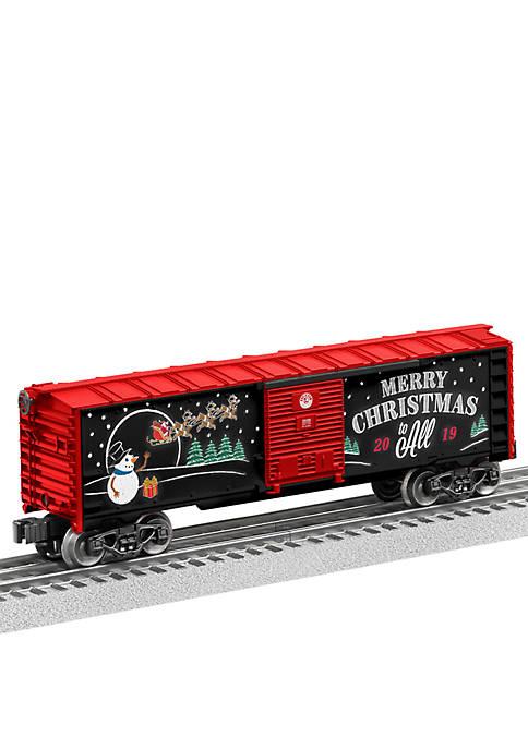 2019 Christmas O Gauge Model Train Boxcar