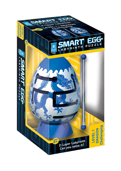 Smart Egg 2 Layer Labyrinth Puzzle - Blue Dragon: Challenging
