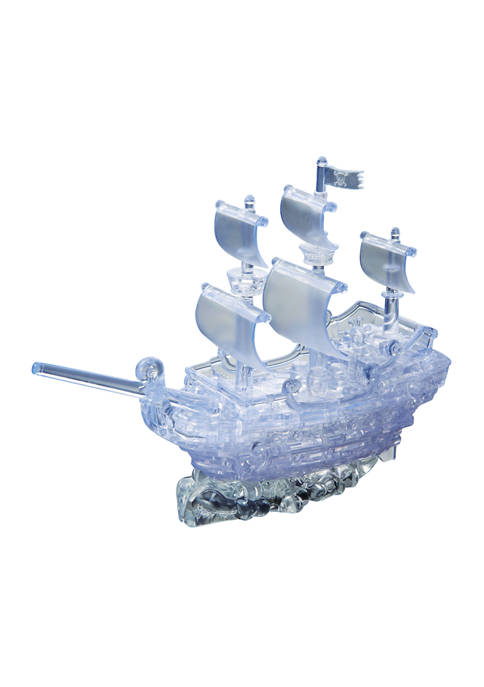 3D Crystal Puzzle - Pirate Ship: 98 Pieces