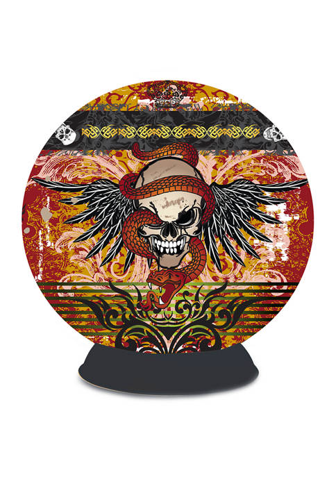 Lifestyle 3D Puzzle Sphere - Skull Tattoo: 240 Pieces