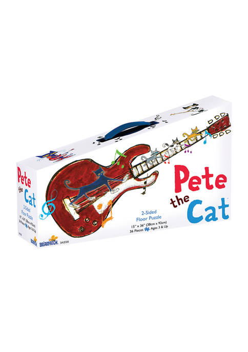 Briarpatch Pete the Cat 2-Sided Floor Puzzle Suitcase: