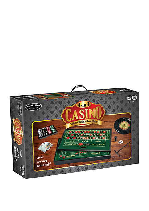 Front Porch Classics 4 in 1 Casino: Roulette,