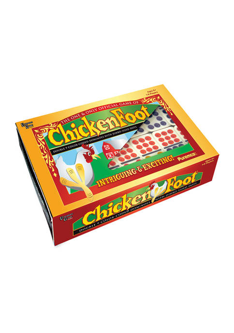 Puremco ChickenFoot Double 9 Color Dot Dominoes