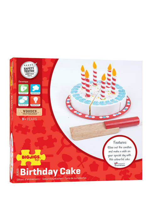 Bigjigs Toys Wooden Birthday Cake Toy