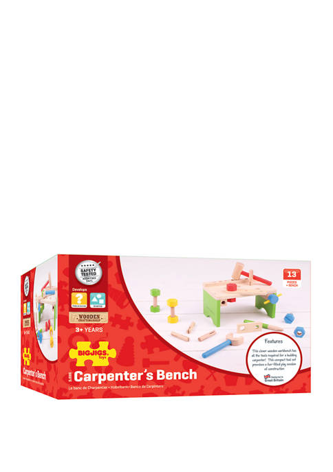 Bigjigs Toys Wooden Carpenters Bench
