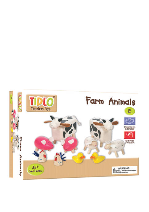 Bigjigs Toys Wooden Farm Animals Toy